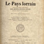 """Pour la revue """"Le Pays Lorrain"""""""